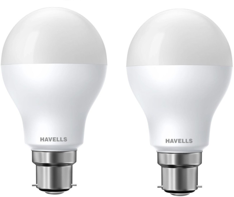 Havells 10 W Standard B22 LED Bulb(White, Pack of 2)