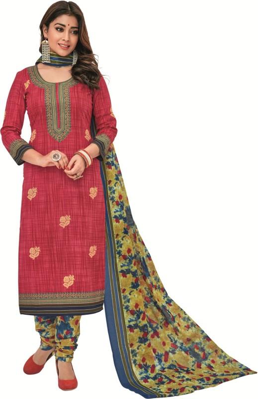 SuitsOn Cotton Printed Salwar Suit Dupatta Material(Un-stitched)