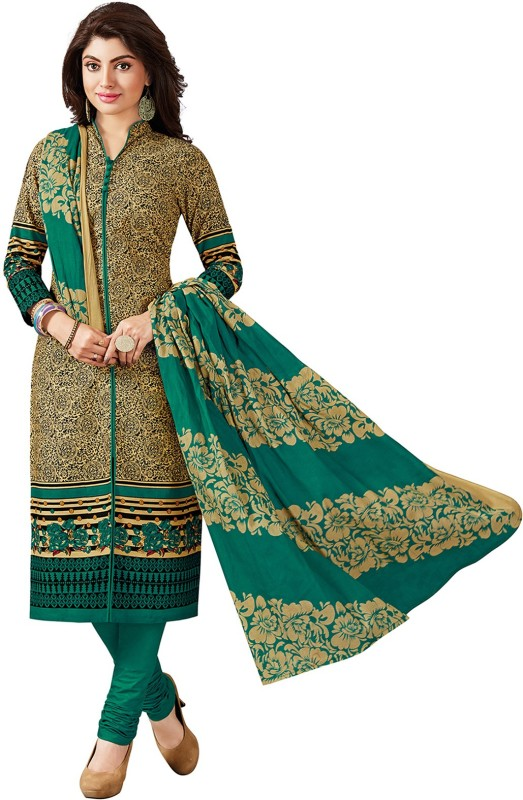 Giftsnfriends Cotton Printed Salwar Suit Dupatta Material(Un-stitched)