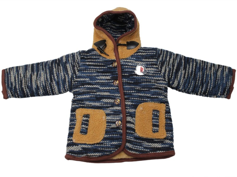Cheeseling Full Sleeve Harringbone Baby Boys & Baby Girls Jacket
