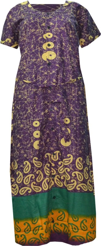 JISB Womens Maternity/Nursing Nighty(Purple)