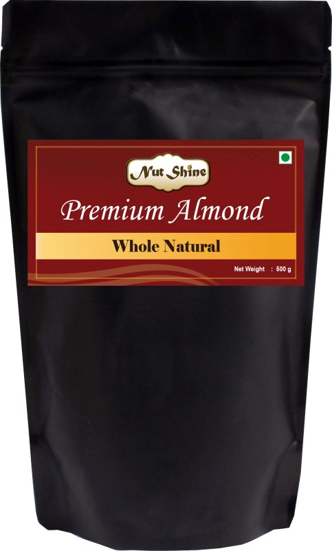 Nut Shine Whole Natural (500 Gm) Almonds(500 g)