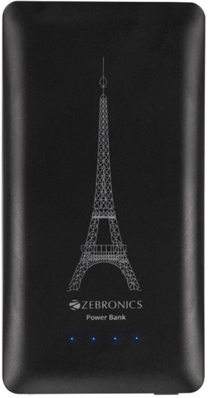 Zebronics 4000 mAh Power Bank (ZEB-PG4000S1, Portable With Torch)(Black, Lithium-ion)