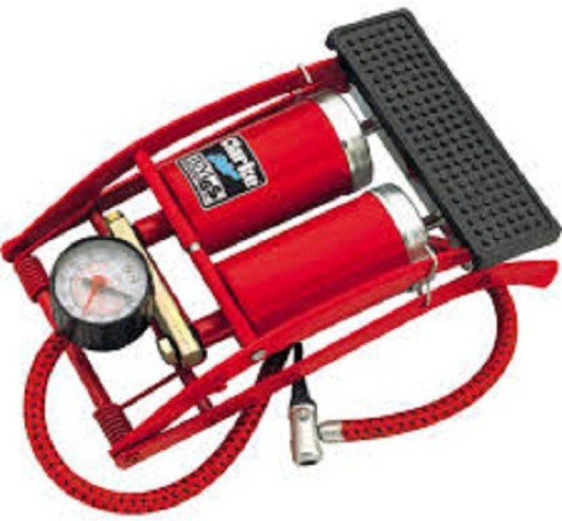 swarg® twin foot pump Bicycle Pump(Red)