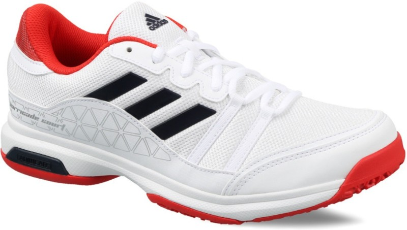 ADIDAS Barricade Court OC Tennis Shoes For Men(White, Blue, Red)