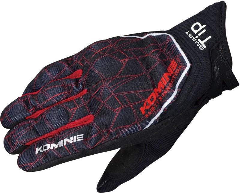 KOMINE GK-191_BLACK_RED Riding Gloves (S, Multicolor)