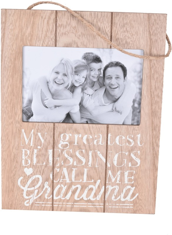 Scrafts decorative/antique wall hanging brown wooden Grandma Blessing photo frame for home décor/wall décor/bedroom décor/living room décor/office décor/lobby décor Sign(1)