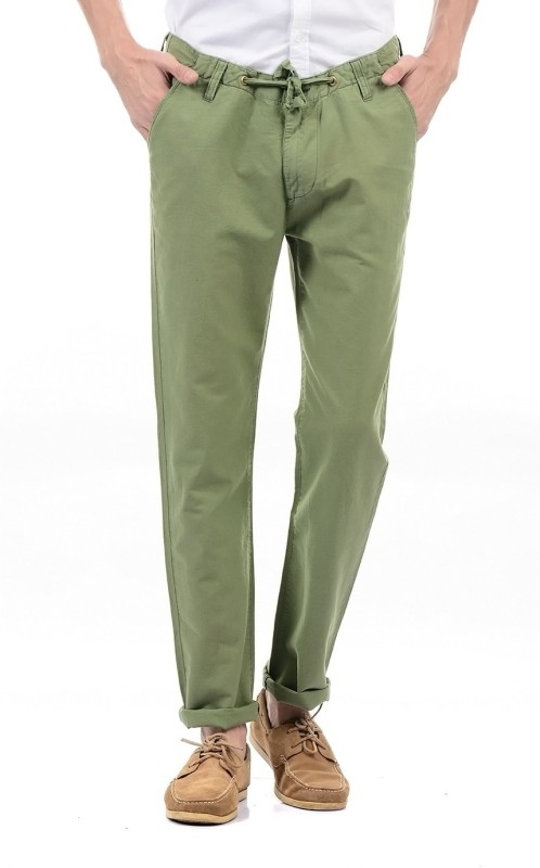 Pepe Jeans Regular Fit Mens Green Trousers