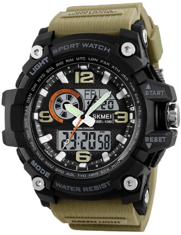 Skmei Analog Digital Multifuction Premium Sports Men's Watch for Men and Boys, Brown Men's Watch image