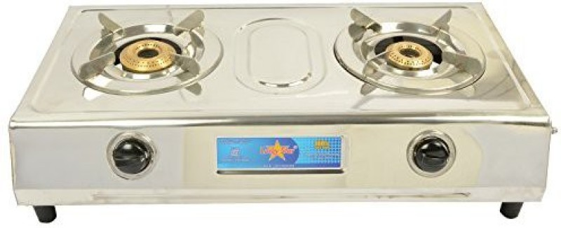 Surya Stainless Steel Manual Gas Stove(2 Burners)