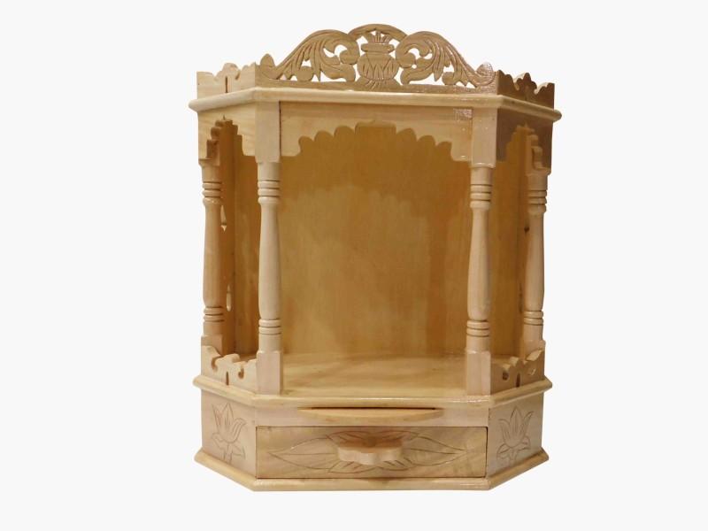 vinayakmoorti Wooden Home Temple(Height: 46 cm)