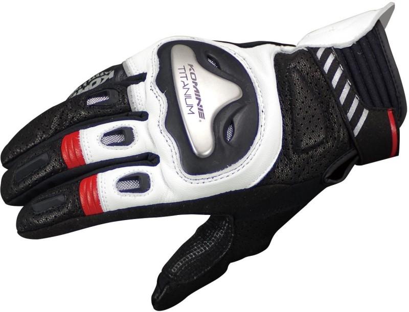 KOMINE GK-200_BLACK_WHITE Driving Gloves (XXL, Multicolor)