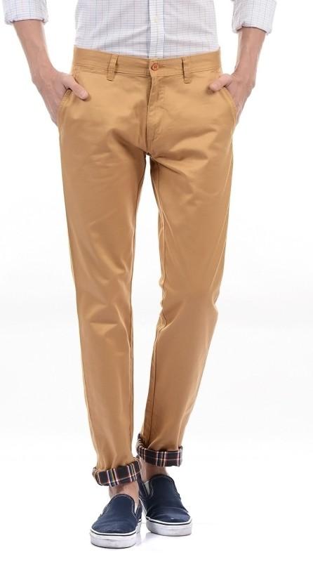 Izod Regular Fit Men Brown Trousers