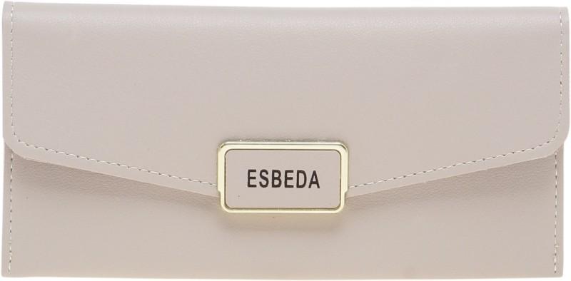Esbeda Women Grey Artificial Leather Wallet(9 Card Slots)
