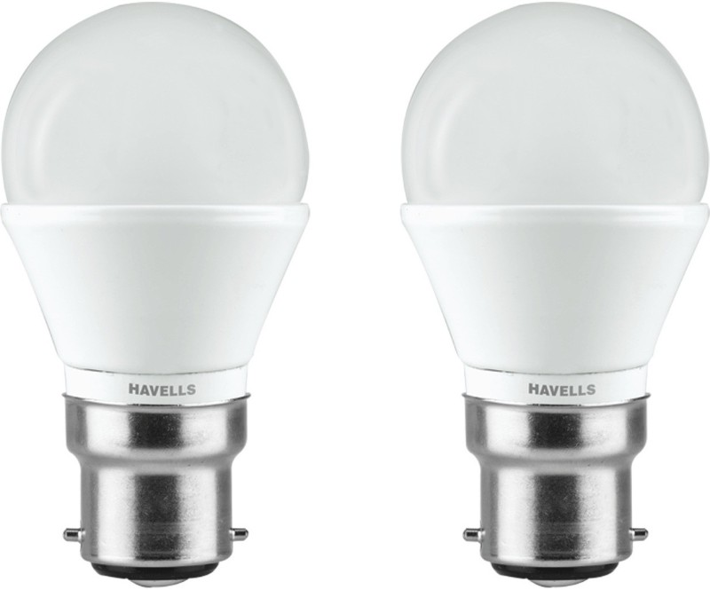 Havells 3 W Standard B22 LED Bulb(White, Pack of 2)