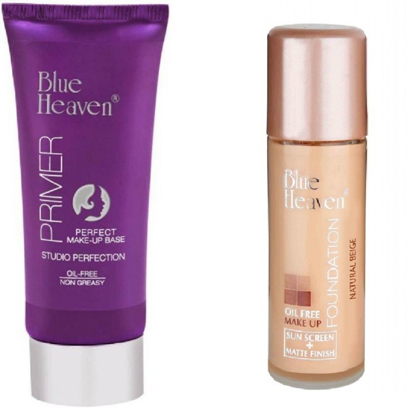 Blue Heaven Perfect Match Studio Perfection Primer with oil free foundation(2 Items in the set)