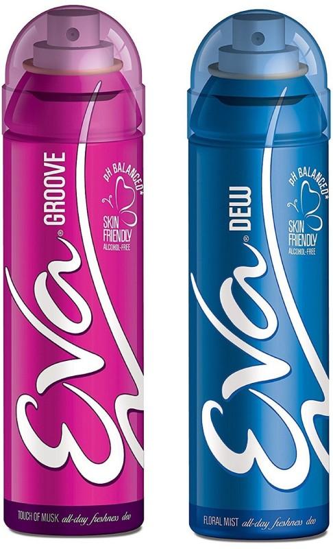 EVA Groove and Dew Deodorant Spray Combo Pack of 2 (125ML each) Deodorant Spray - For Women(250 ml, Pack of 2)