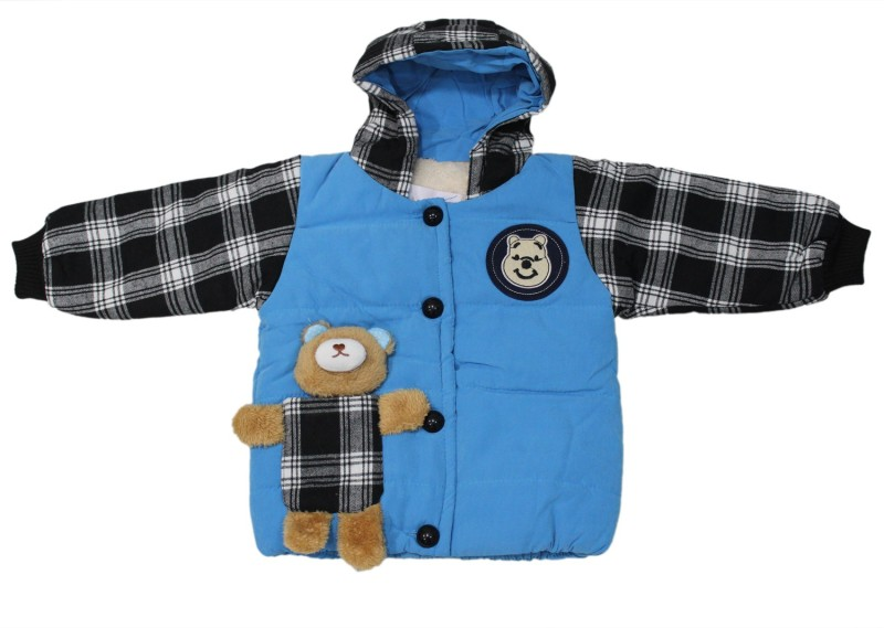 Cheeseling Full Sleeve Checkered Baby Boys & Baby Girls Jacket