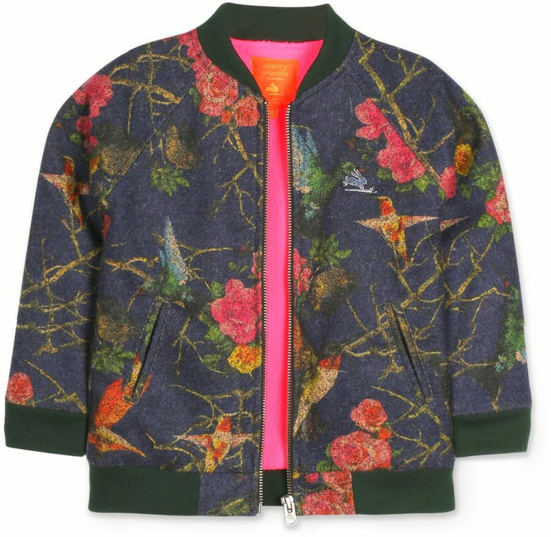 Cherry Crumble California Full Sleeve Printed Girls Jacket