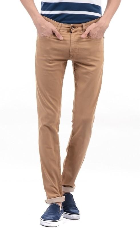 Pepe Jeans Slim Mens Brown Jeans