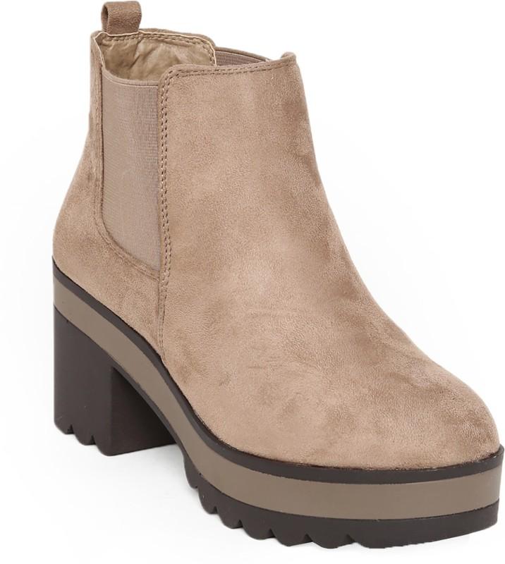 Flat n Heels Boots For Women(Beige)