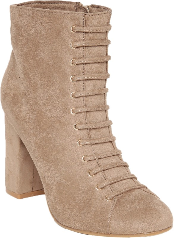 Flat n Heels Boots For Women(Beige)