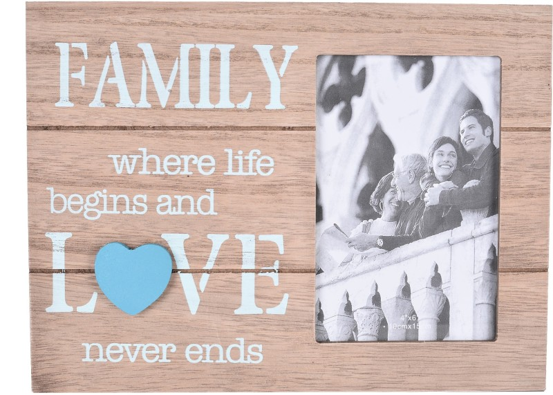 Scrafts decorative/antique wall hanging brown wooden Family Love photo frame for home /wall/bedroom /living room /office /lobby décor Sign(1)