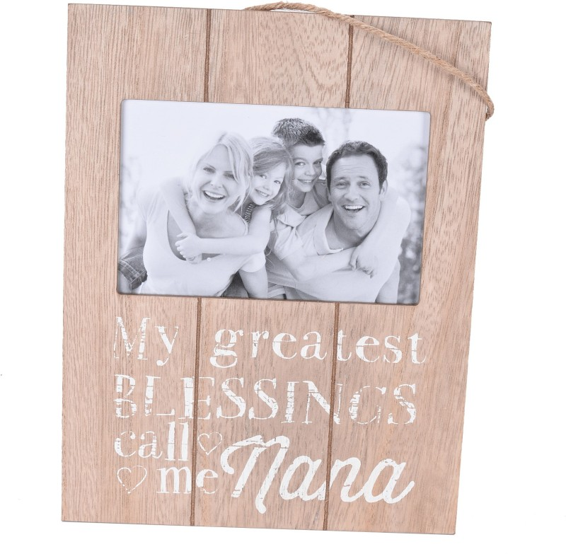 Scrafts decorative/antique wall hanging brown wooden Nana Blessing photo frame for home /wall /bedroom /living room /office /lobby décor Sign(1)