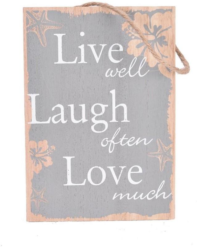 Scrafts grey wooden Live Laugh Love mini decorative wall hanging showpiece for wall décor/ main enterance décor/home décor/bedroom décor/living room décor/office décor/lobby décor Sign(1)