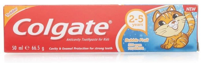 Colgate Toothpaste For Kids 50ml (2-5Y) - Bubble Fruit Toothpaste(66 g)