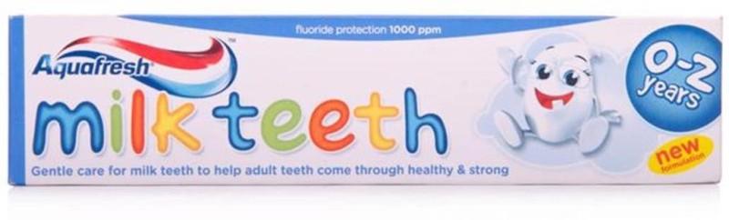 Aqua Fresh Aquafresh Milk Teeth Toothpaste (0-2Y) - 50ml Toothpaste(60 g)