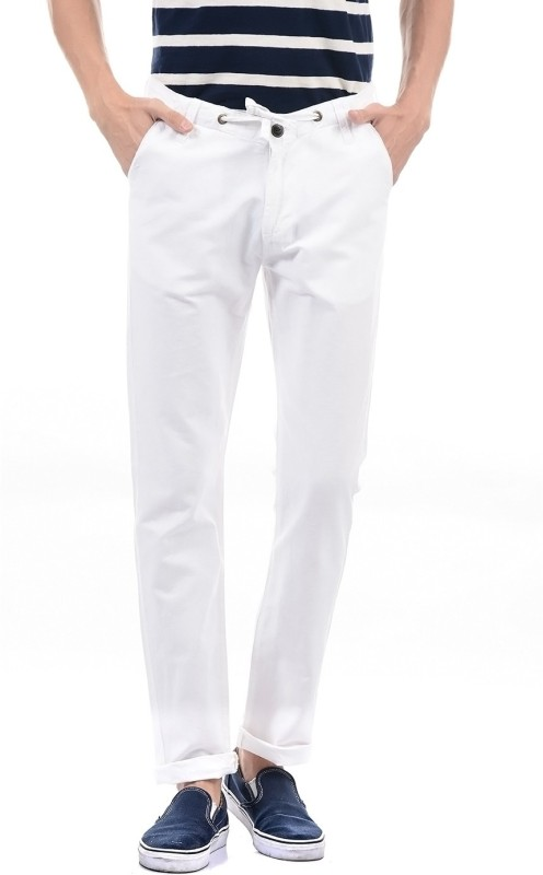 Pepe Jeans Regular Fit Mens White Trousers