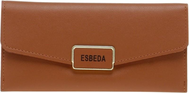 Esbeda Women Tan Artificial Leather Wallet(9 Card Slots)