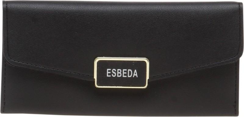 Esbeda Women Black Artificial Leather Wallet(9 Card Slots)