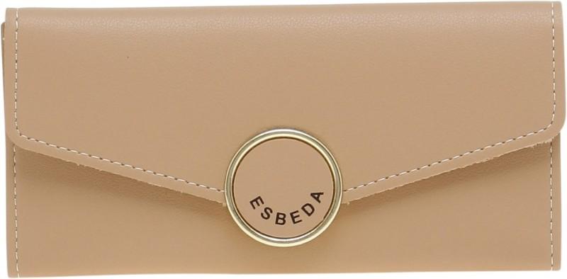 Esbeda Women Beige Artificial Leather Wallet(13 Card Slots)