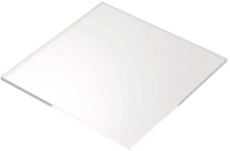 DELITE pack of 4 Cast 6 x 6 inch Transparent 15 cm Acrylic Sheet(3 mm)