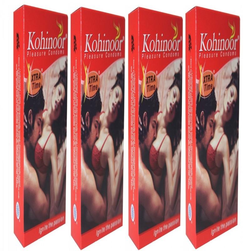 Kohinoor XTRA TIME CONDOMS - PACK OF 4 (40S) Condom(Set of 4, 10S)
