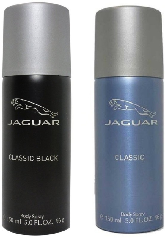 Jaguar Pk of 2 (Classic Black & Classic) Deodorant Spray - For Men(300 ml, Pack of 2)