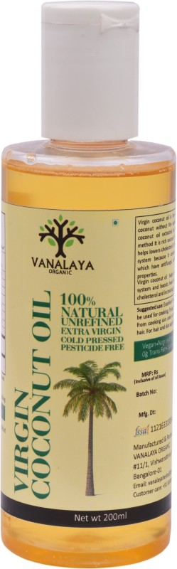 Vanalaya Virgin Coconut Oil-200ml Coconut Oil 200 ml