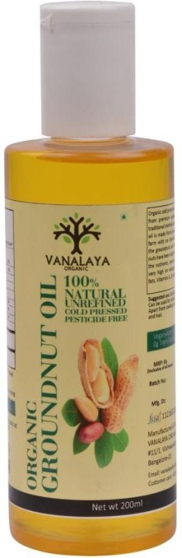 Vanalaya Organic Groundnut Oil-200ml Groundnut Oil 200 ml