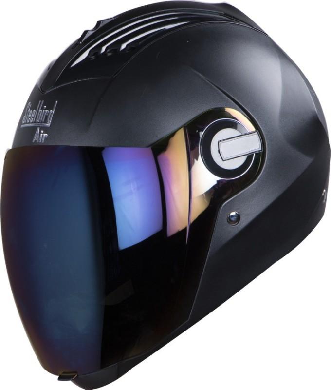 Steelbird SBA-2 Black Rainbow Visor Motorbike Helmet(Black)