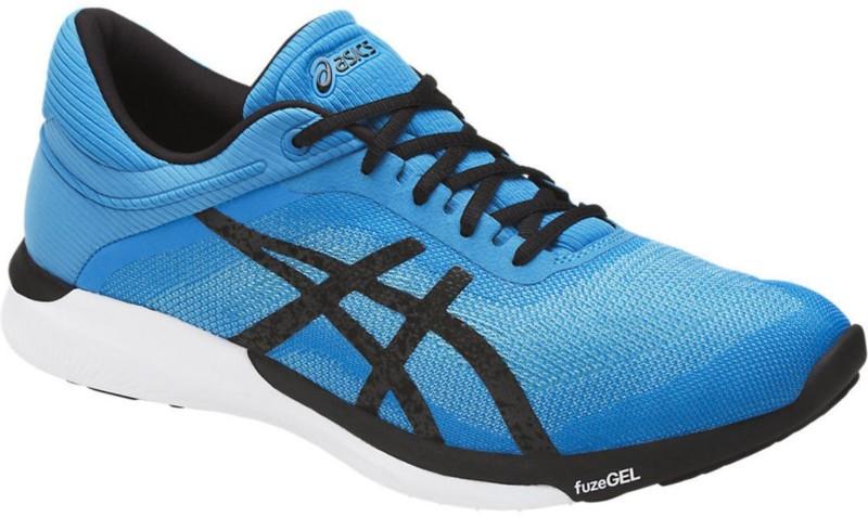 Asics fuzeX Rush Walking Shoes For Men(Blue, Black)