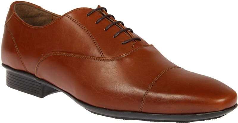 Knotty Derby Arthur Toe Cap Oxford Lace Up For Men(Tan)