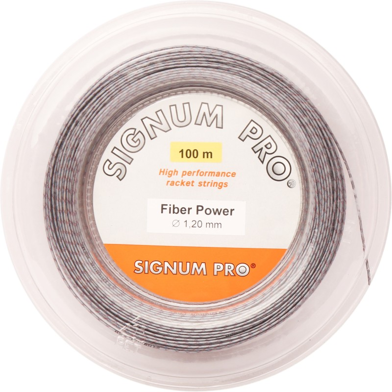 Signum Pro Fiber Power 1.20mm- 100m Reel 1.20 mm Squash String - 100 m(Grey)