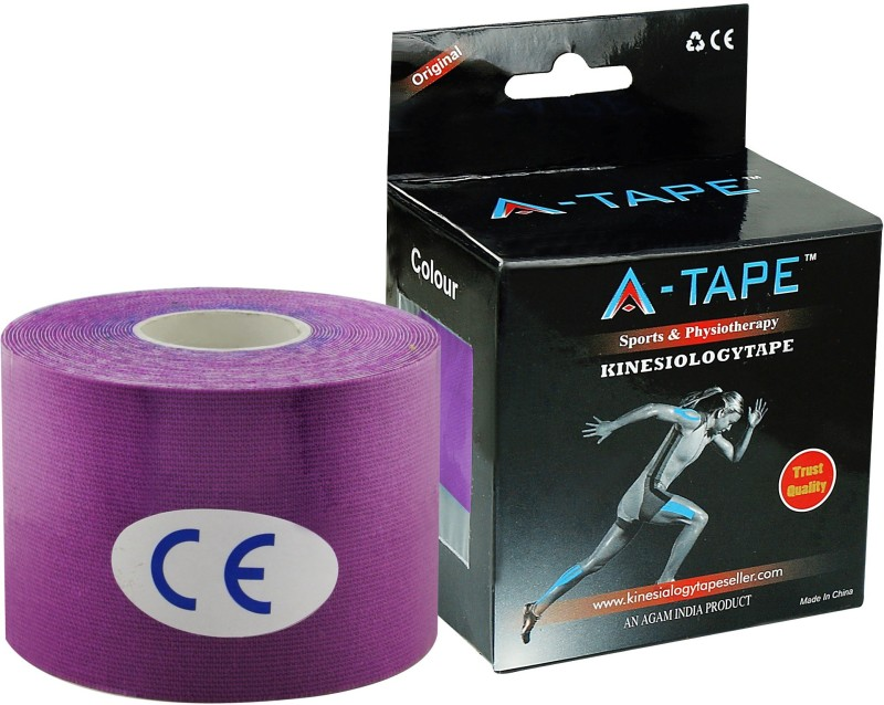 A-TAPE Kinesiology Knee, Calf & Thigh Support (Free Size, Purple) Support Tape(Purple)