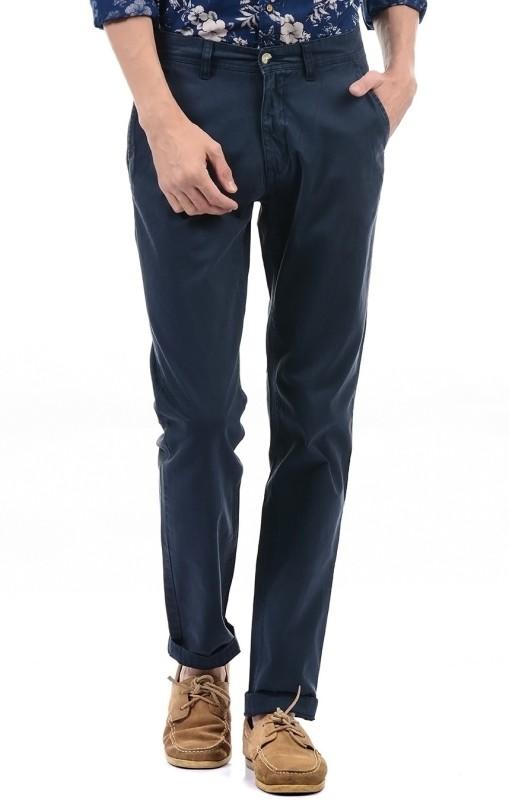 Izod Regular Fit Men Dark Blue Trousers