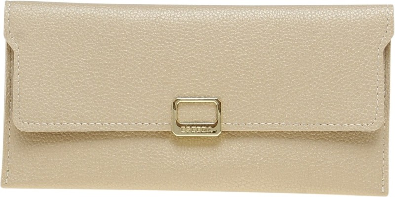 Esbeda Women Gold Artificial Leather Wallet(9 Card Slots)