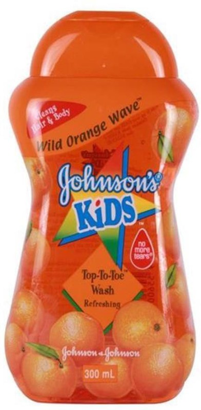 Johnson's Kids Top To Toe Wash 300ml - Wild Orange Wave(300 ml)