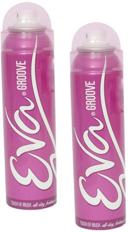 EVA Groove Touch of Musk (Pack of 2) Deodorant Spray - For Women(125 ml, Pack of 2)