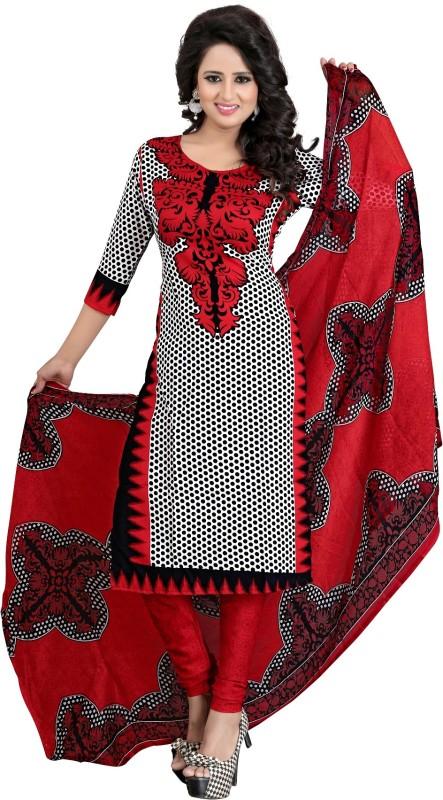 Salwar Studio Crepe Printed Semi-stitched Salwar Suit Dupatta Material